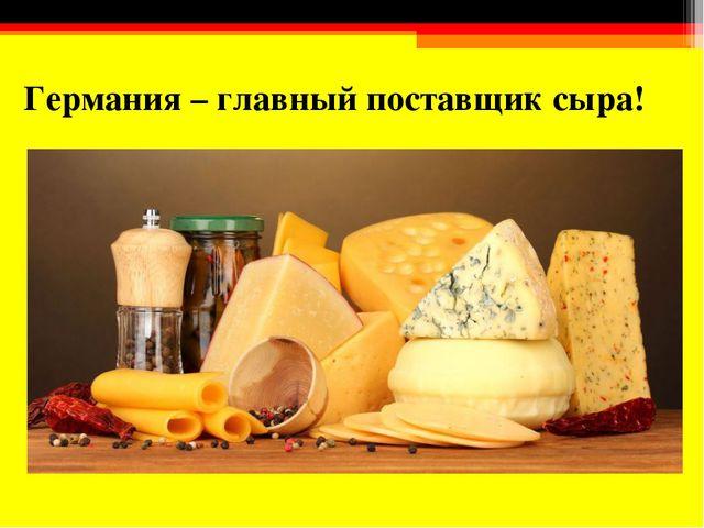 Германия – главный поставщик сыра!