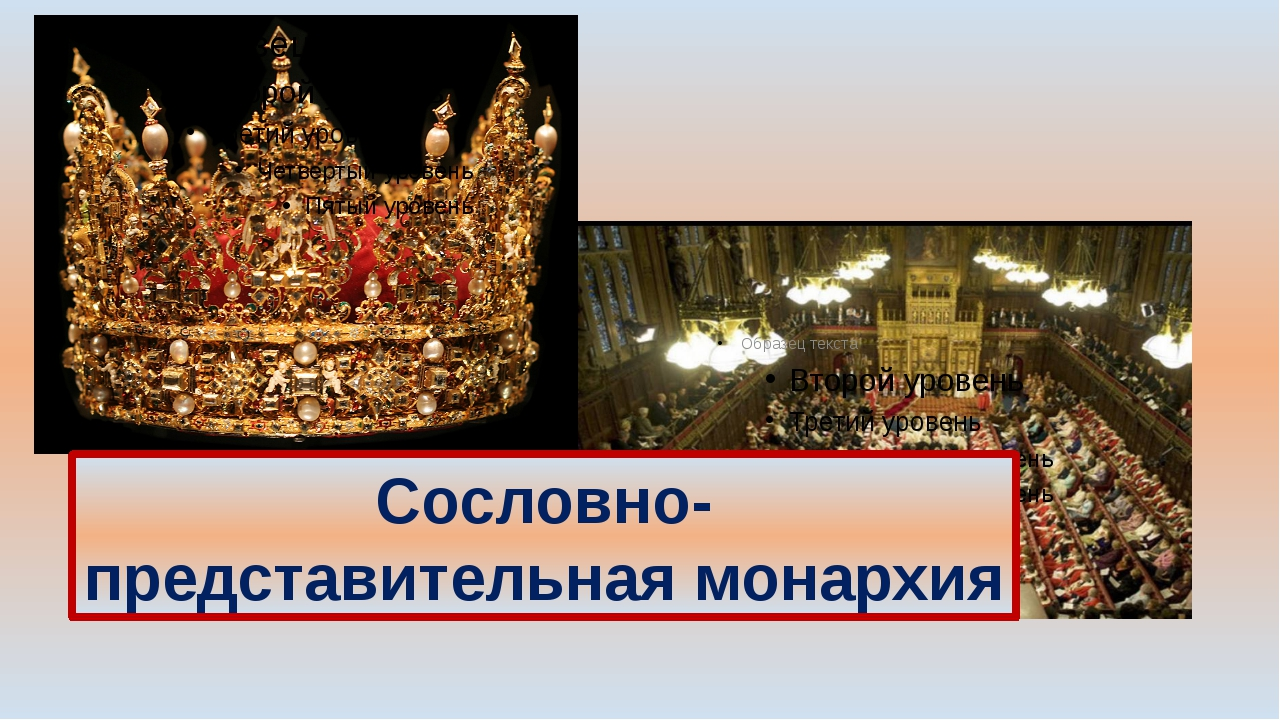 Сословно-представительная монархия