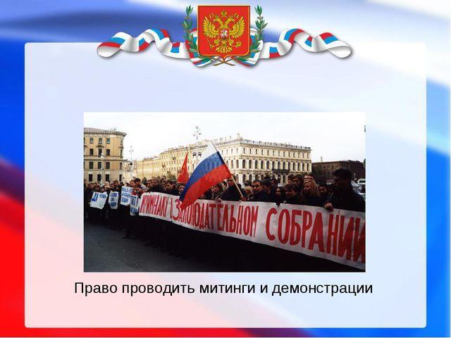 Право проводить митинги и демонстрации