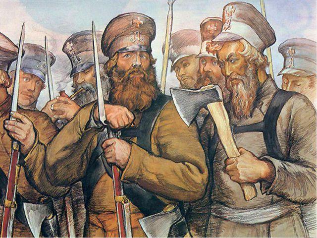 13 тысяч ратников составили пять пеших полков, один конный полк из 760 всадни...