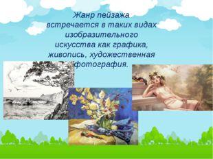 Жанр пейзажа встречается в таких видах изобразительного искусства как графика