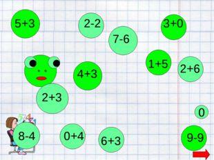 2+3 5+3 8-4 4+3 7-6 1+5 6+3 9-9 0 2-2 2+6 3+0 0+4