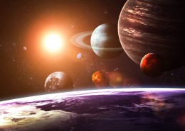 Обои Планеты Земля Солнце solar system as seen from Earth Космос 3D_Графика