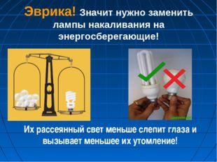 Эврика! Значит нужно заменить лампы накаливания на энергосберегающие! Их расс