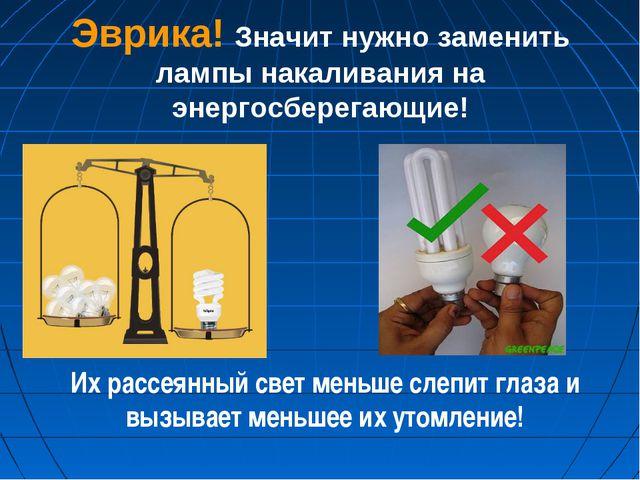 Эврика! Значит нужно заменить лампы накаливания на энергосберегающие! Их расс...