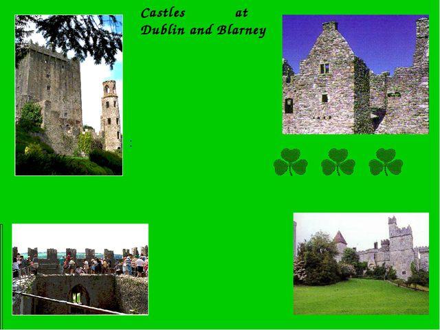 Castles at Dublin and Blarney :