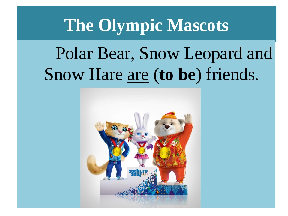 The Olympic Mascots Polar Bear, Snow Leopard and Snow Hare are (to be) friends.