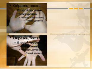 Длина от кончика самого длинного до самого низкого основания из четырёх пальц