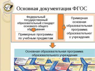 Федеральный государственный образовательный стандарт основного общего образов