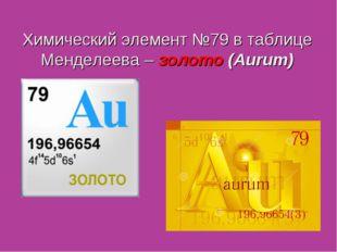 Химический элемент №79 в таблице Менделеева – золото (Aurum)