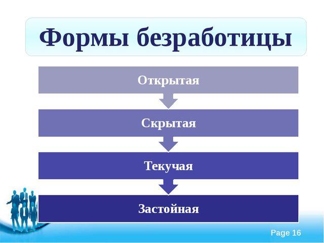 Формы безработицы Free Powerpoint Templates Page