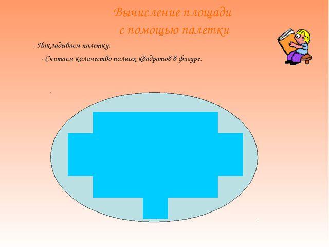 Вычисление площади с помощью палетки - Накладываем палетку. - Считаем количе...