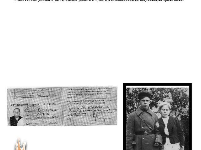 За добросовестный труд Анна Максимовна награждена ордено Отечественной войны...