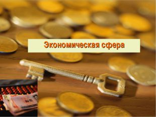 Экономическая сфера Урок 1.