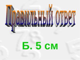 Б. 5 см