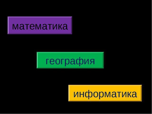 информатика математика география