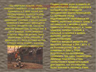 гладиаторские бои Гладиаторские игры возникли из погребального обряда этруск