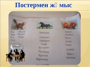 Постермен жұмыс