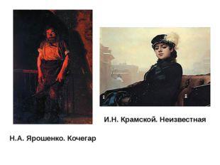Н.А. Ярошенко. Кочегар И.Н. Крамской. Неизвестная Художниками была выдвинута