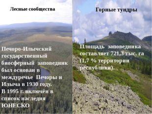 Площадь заповедника составляет 721,3тыс.га (1,7% территории республики). Л