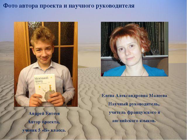 Фото автора проекта и научного руководителя Елена Александровна Малеева Науч...