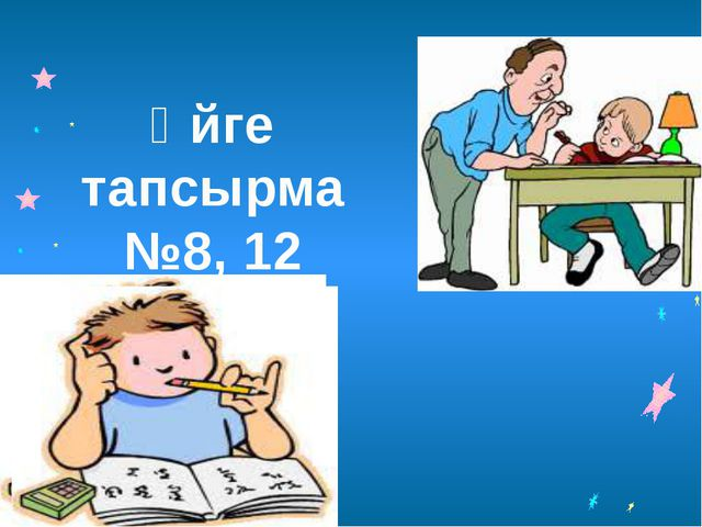 Үйге тапсырма №8, 12
