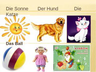 Die Sonne Der Hund Die Katze Das Ball