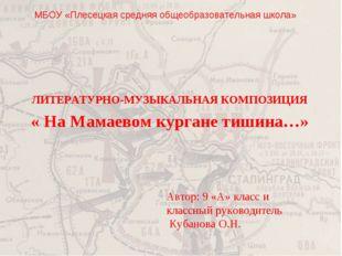 МБОУ «Плесецкая средняя общеобразовательная школа» Автор: 9 «А» класс и класс