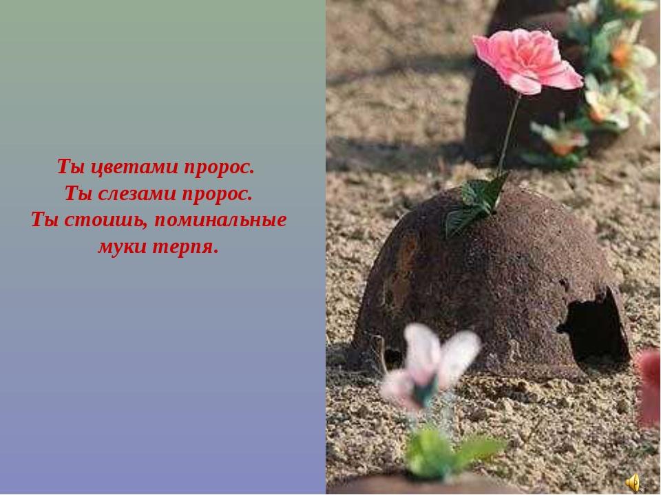 Ты цветами пророс. Ты слезами пророс. Ты стоишь, поминальные муки терпя.
