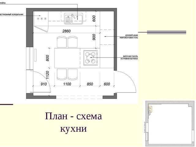План - схема кухни