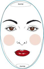 коррекция лица .макияж