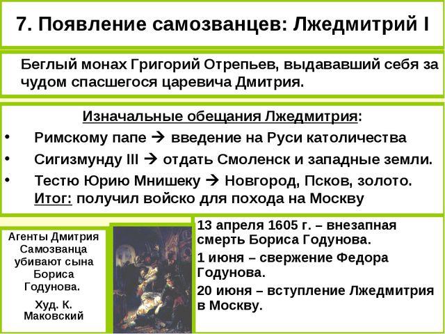 Изначальные обещания Лжедмитрия: Римскому папе  введение на Руси католичеств...