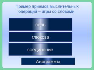 льсо Анаграммы лкюазго днсеиниео соль глюкоза соединение Пример приемов мысл
