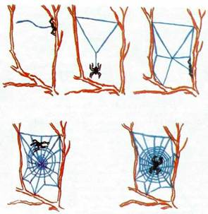 Как сделать сеть паук