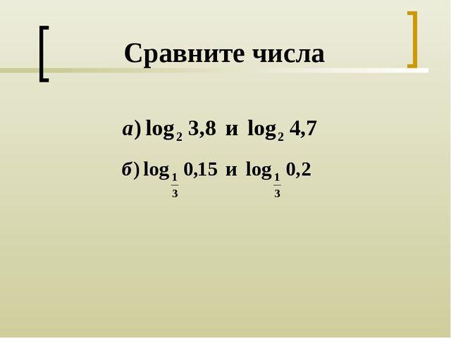 Сравните числа