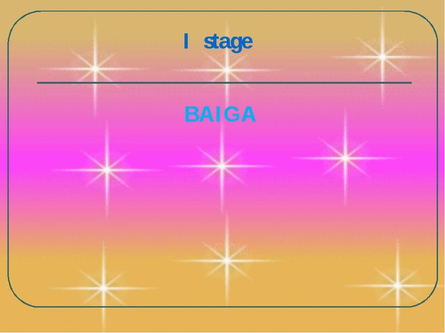 I stage BAIGA