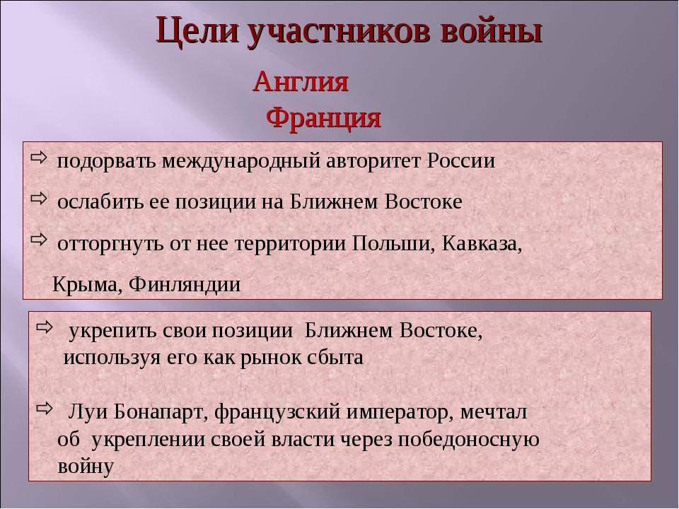 подорвать международный авторитет России ослабить ее позиции на Ближнем Вост...