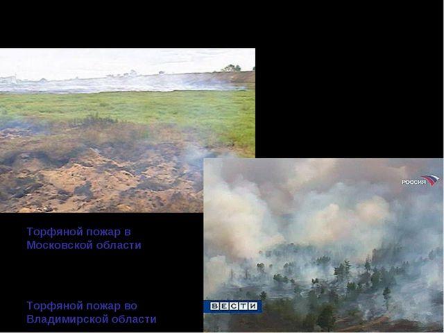 ТОРФЯНЫЕ ПОЖАРЫ Торф горит под землей без доступа воздуха и даже под водой! П...