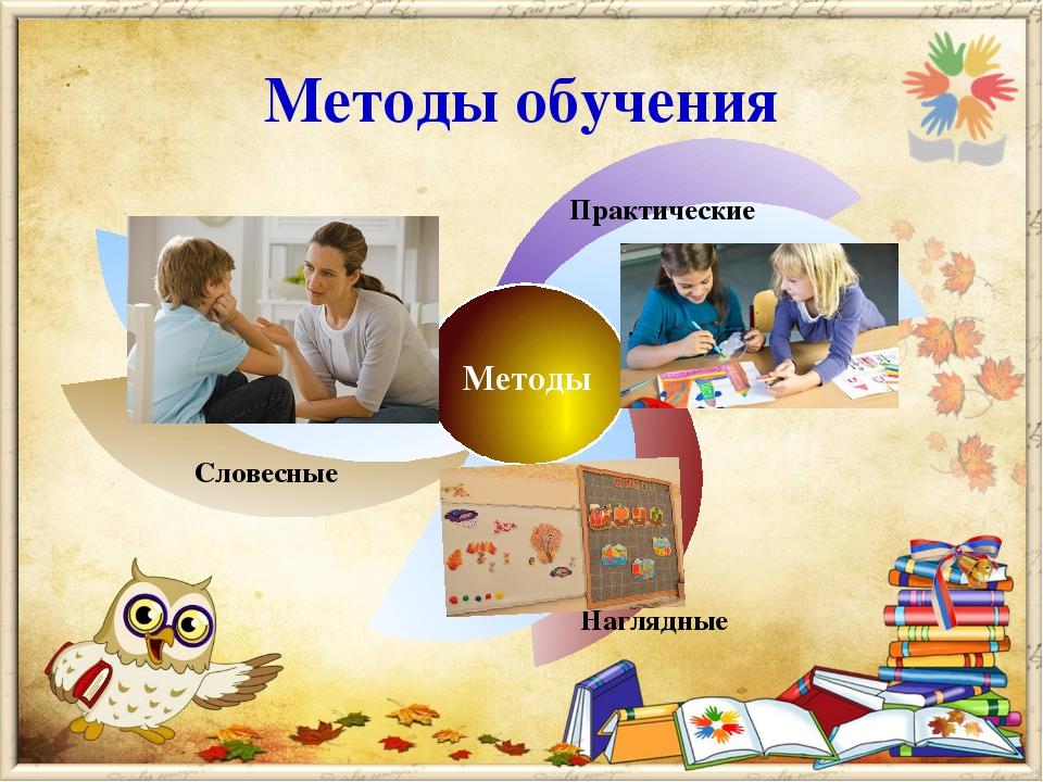 Методы обучения Методы Словесные Практические Наглядные