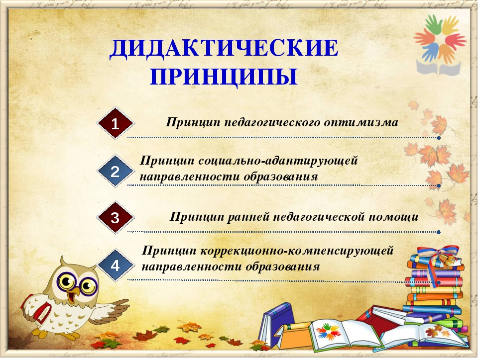 ДИДАКТИЧЕСКИЕ ПРИНЦИПЫ Принцип педагогического оптимизма 1 Принцип социально-...
