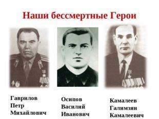 Наши бессмертные Герои Гаврилов Петр Михайлович. Осипов Василий Иванович Кама