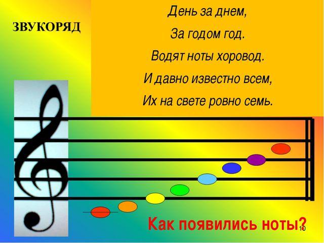 День за днем, За годом год. Водят ноты хоровод. И давно известно всем, Их на...