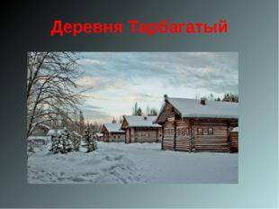 Деревня Тарбагатый