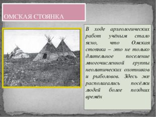 В ходе археологических работ учёным стало ясно, что Омская стоянка – это не т