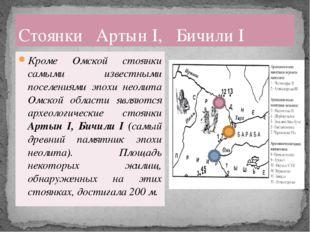 Кроме Омской стоянки самыми известными поселениями эпохи неолита Омской облас