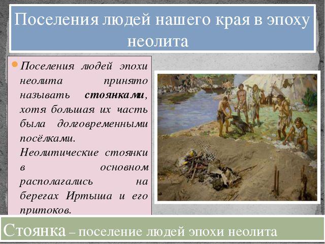 Поселения людей эпохи неолита принято называть стоянками, хотя большая их час...