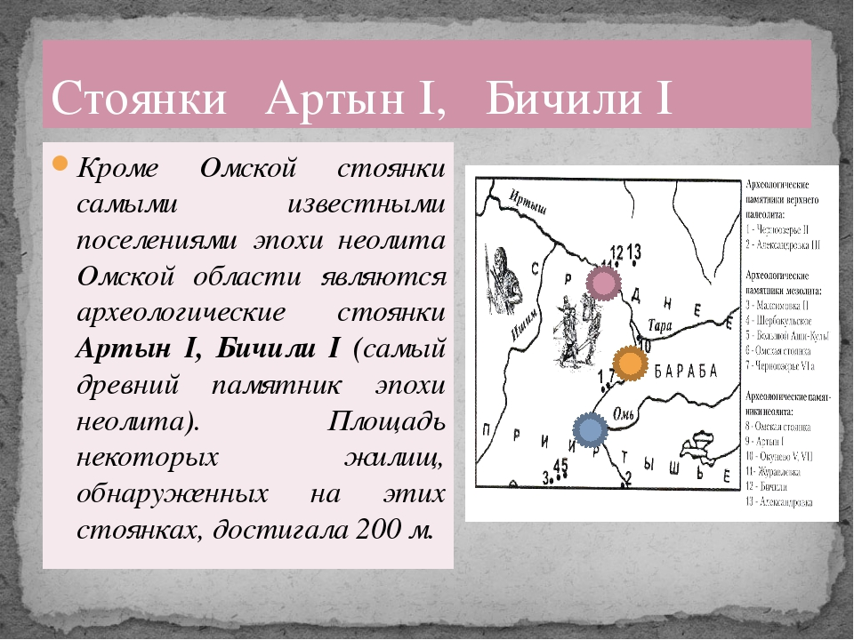 Кроме Омской стоянки самыми известными поселениями эпохи неолита Омской облас...