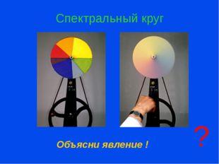 Спектральный круг Объясни явление ! ? Ответьте на вопрос. Предложение сделат