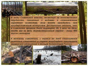 В годы Советской власти, несмотря на экономические трудности, связанные с во