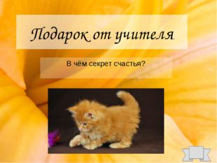 Подарок от учителя В чём секрет счастья?